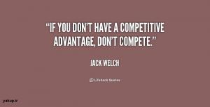 جک ولش - مزیت رقابتی